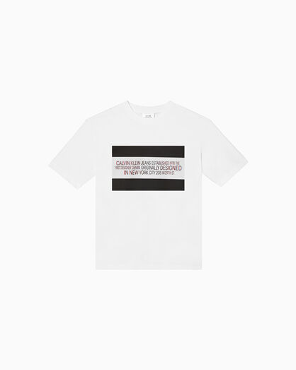 CALVIN KLEIN 3D EST. 1978 LOGO 크루넥 티셔츠