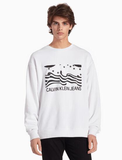 CALVIN KLEIN INSTITUTIONAL ロゴフラッグ スウェットシャツ