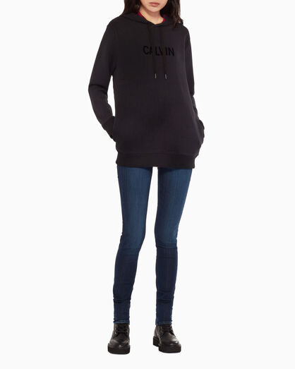 CALVIN KLEIN OVERSIZED HOODIE WITH GRAPHIC CONTRAST