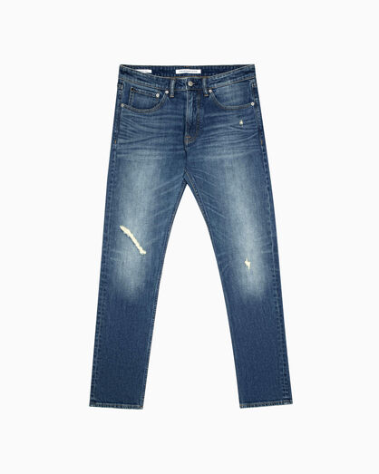 CALVIN KLEIN CKJ 056 ATHLETIC TAPER DISTRESSED JEANS