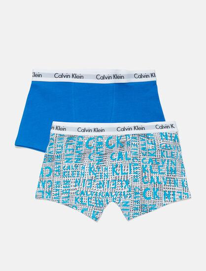 CALVIN KLEIN 男童款 2 件式四角褲組