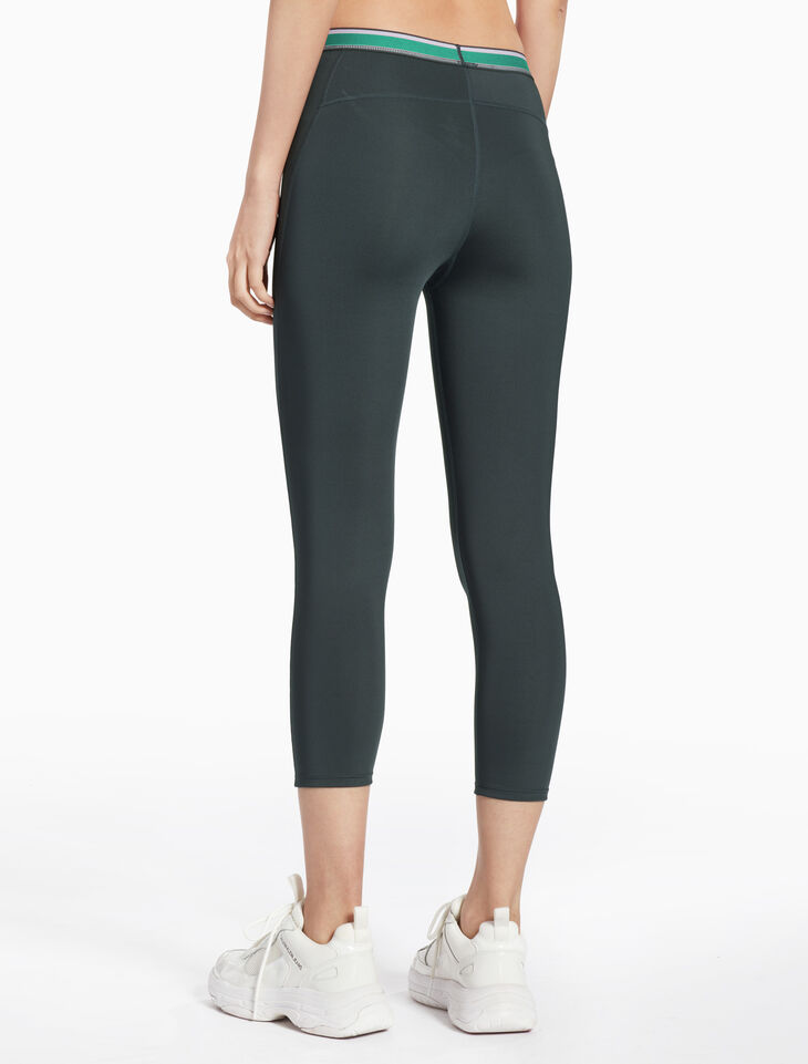CALVIN KLEIN STRIPE WAIST CROPPED LEGGINGS