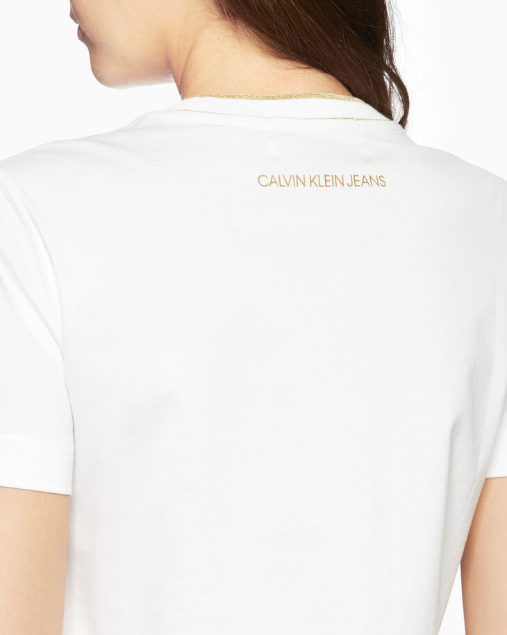 CALVIN KLEIN CNY CAPSULE CONTRAST NECK TEE