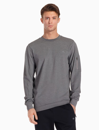 CALVIN KLEIN ACTIVE ICON PULLOVER TOP