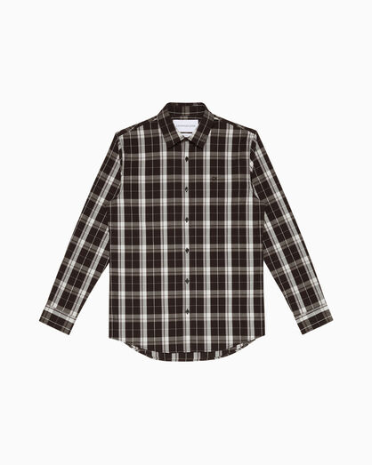 CALVIN KLEIN CHECKED POPLIN SLIM SHIRT