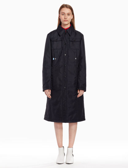 CALVIN KLEIN Pointed collar puffer jacket