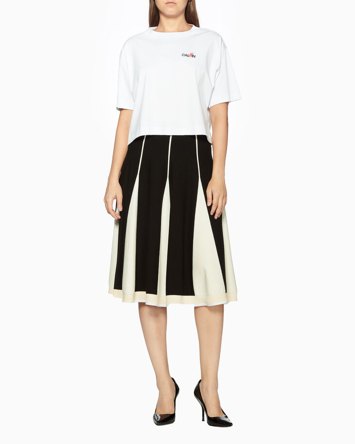 CALVIN KLEIN WARM TOUCH VISCOSE SKIRT