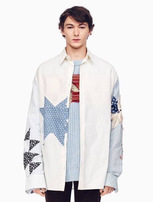 CALVIN KLEIN OVERSIZED QUILTED SHIRT