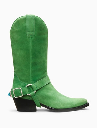 CALVIN KLEIN western ankle boot in suede