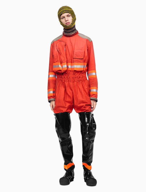 CALVIN KLEIN DISTRESSED FIREMAN JUMPSUIT