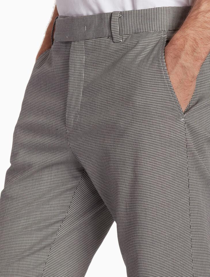 CALVIN KLEIN 마이크로 새발 격자무늬 팬츠