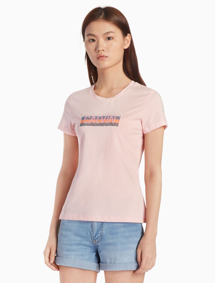 CALVIN KLEIN PRIMA COTTON LOGO GRAPHIC TEE