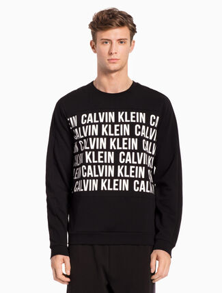 CALVIN KLEIN REPEATED LOGO PULLOVER SWEATSHIRT