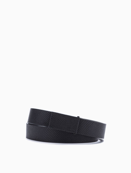 CALVIN KLEIN LEATHER COVERED BUCKLE BELT