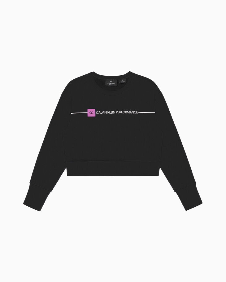 CALVIN KLEIN GRAPHICS LOGO CROPPED SWEATSHIRT