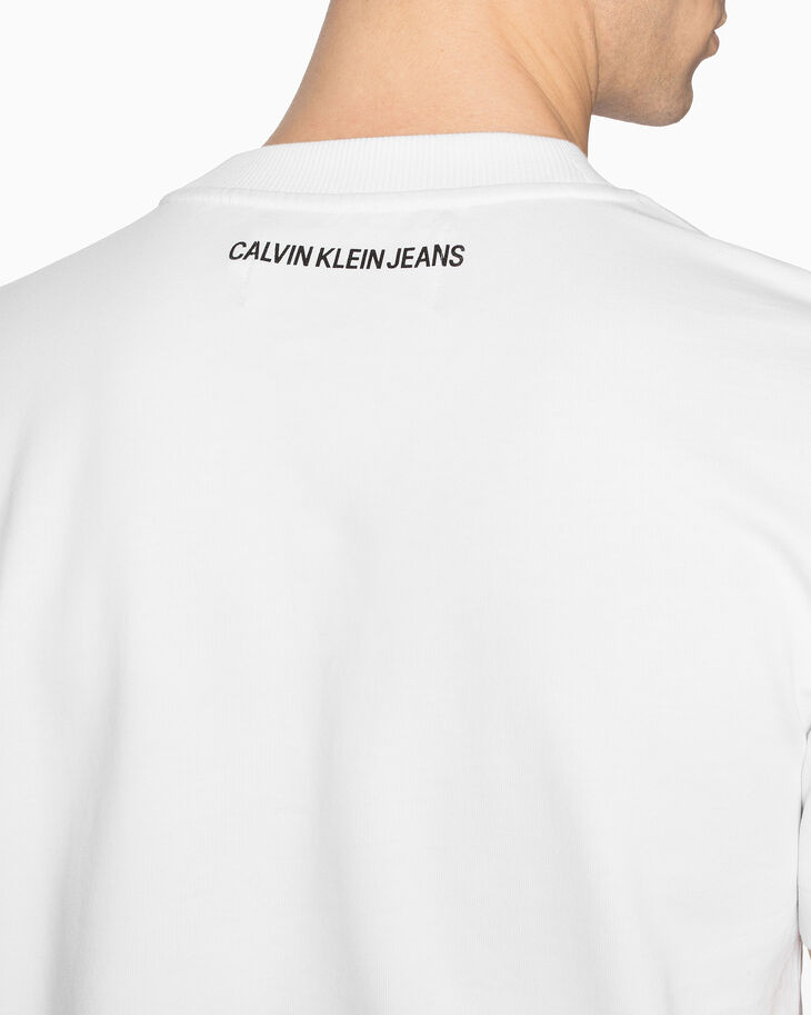 CALVIN KLEIN PHOTO PRINT SHORT SLEEVE SWEATSHIRT