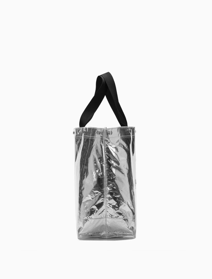 CALVIN KLEIN LARGE TRANSPARENT 메탈릭 토트