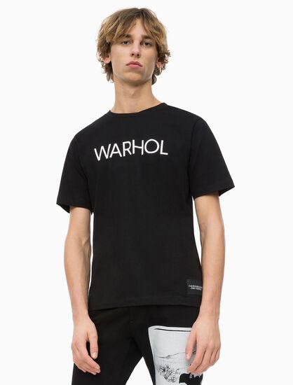 CALVIN KLEIN ANDY WARHOL LOGO T 恤