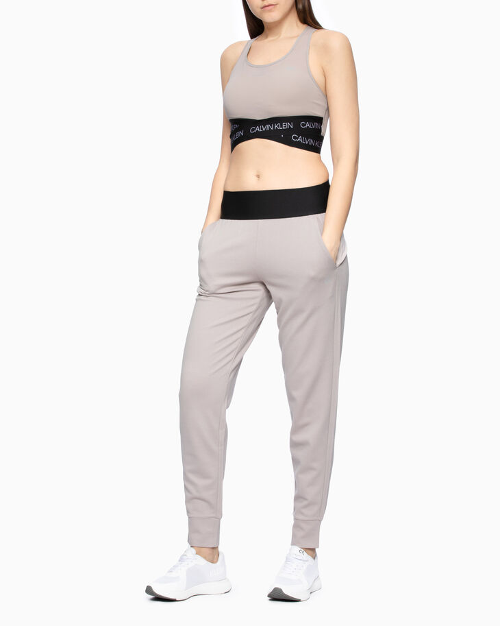 CALVIN KLEIN ACTIVE ICON WRAP-OVER HEM MESH BRA