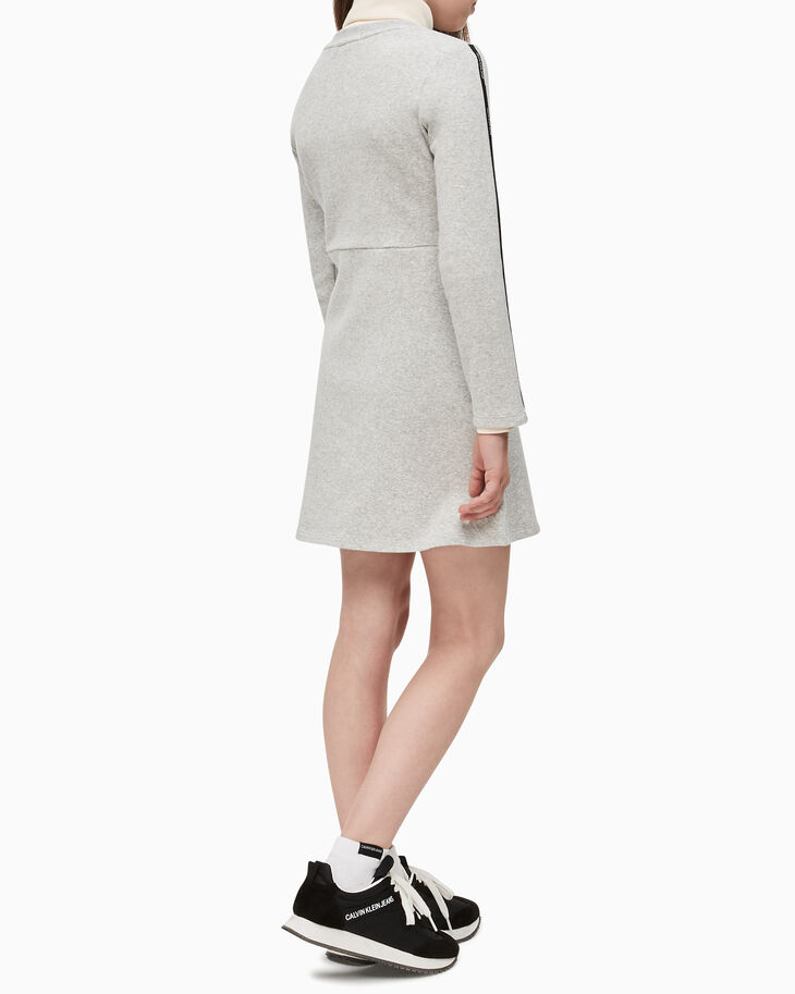 CALVIN KLEIN GIRLS LOGO TAPE FLARE DRESS