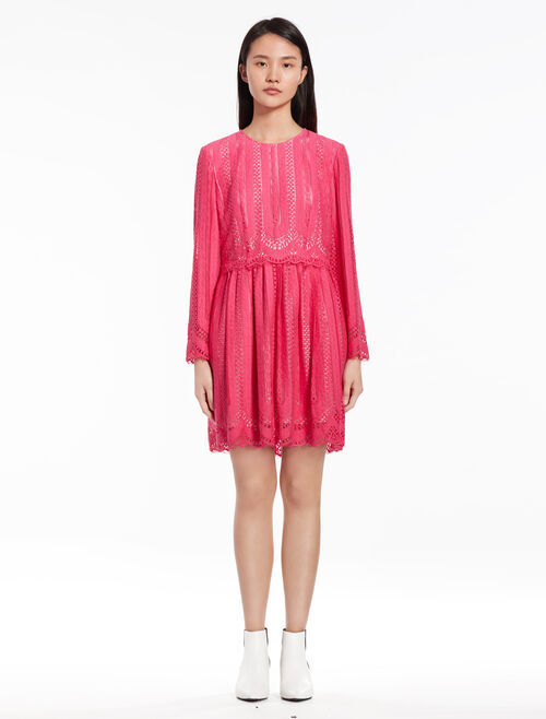 CALVIN KLEIN Lace dress with long sleeves