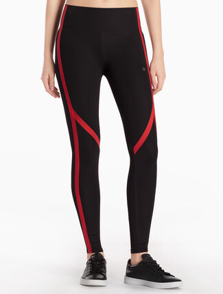 CALVIN KLEIN BONDED LEGGINGS WITH REINFORCED TAPES