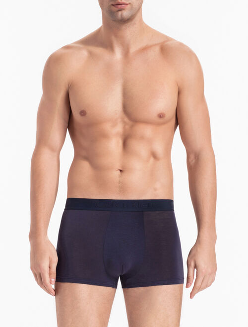CALVIN KLEIN CK BLACK SILK KNIT TRUNKS