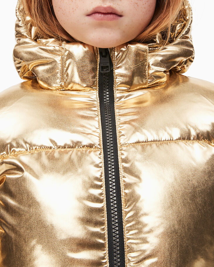 CALVIN KLEIN GIRLS GOLD PUFFER JACKET