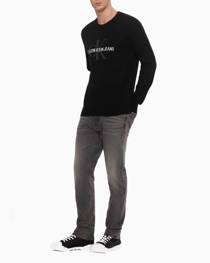 CALVIN KLEIN MONOGRAM LOGO SWEATER