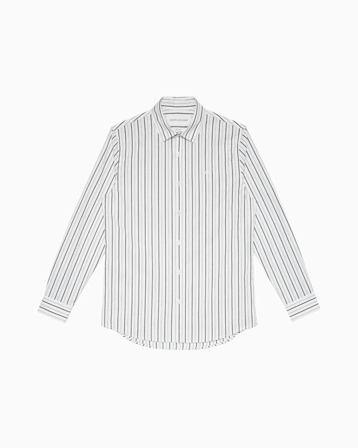 CALVIN KLEIN STRIPE POPLIN 슬림 셔츠