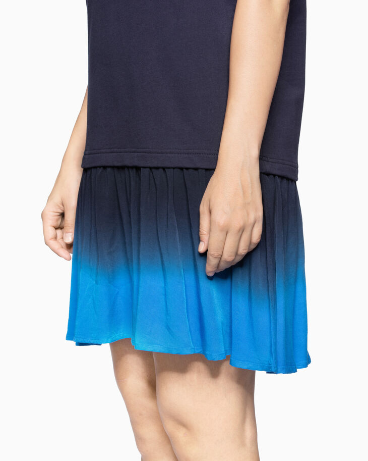 CALVIN KLEIN TIE-DYE HEM SWEATSHIRT DRESS