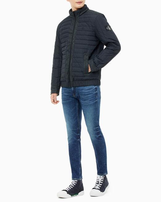 CALVIN KLEIN 남성 모노그램 로고 집업 패딩 재킷