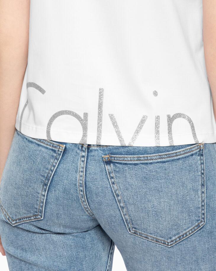CALVIN KLEIN PREMIUM GLITTER LOGO TEE
