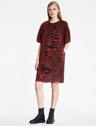 CALVIN KLEIN モダンレパードプリントドレス − 総裏地付き
