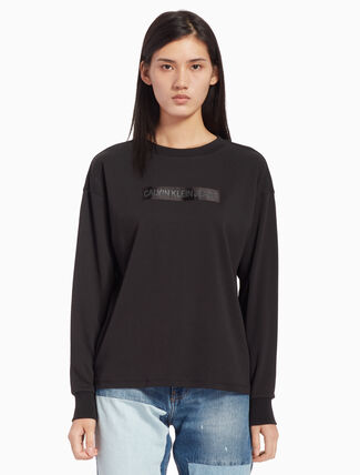 CALVIN KLEIN LOGO TEE WITH LONG SLEEVES