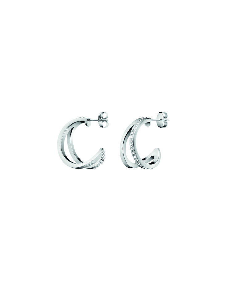 CALVIN KLEIN OUTLINE HOOP EARRINGS