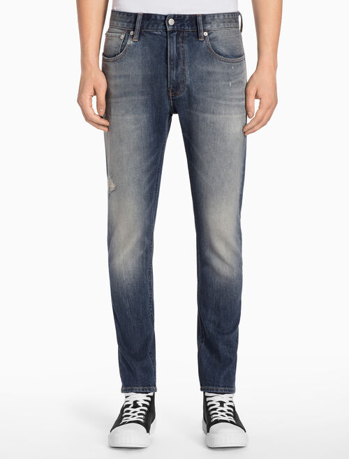 CALVIN KLEIN CKJ 025 MEN SLIM STRAIGHT TAUPO BLUE JEANS