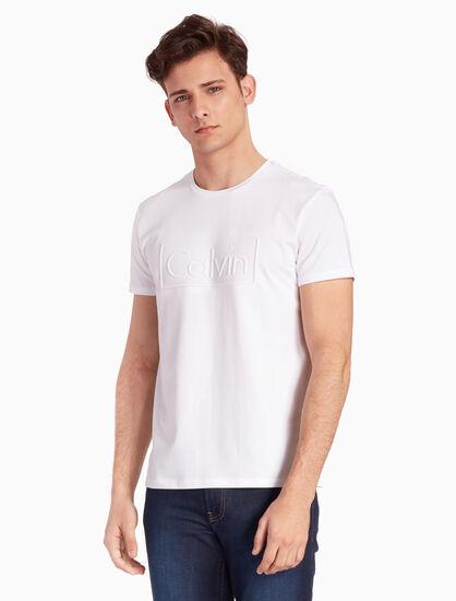 CALVIN KLEIN CALVIN EMBOSSED LOGO 슬림 티셔츠
