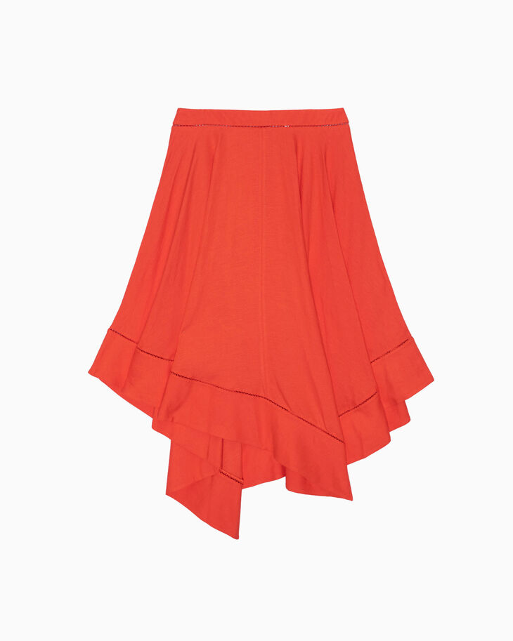 CALVIN KLEIN WASHED LINEN VISCOSE SKIRT