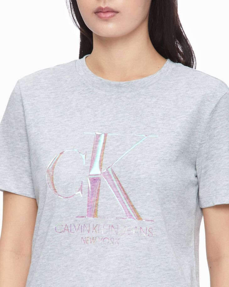 CALVIN KLEIN 37.5 モノグラムロゴ T シャツ