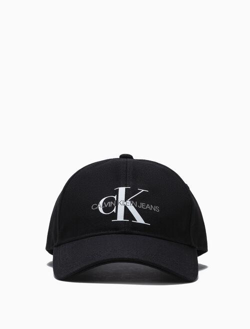 CALVIN KLEIN MONOGRAM CANVAS CAP