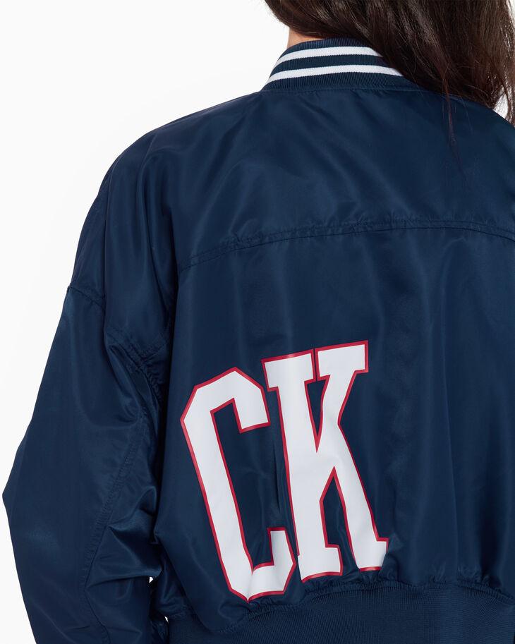 CALVIN KLEIN WOVEN CROPPED ボンバージャケット