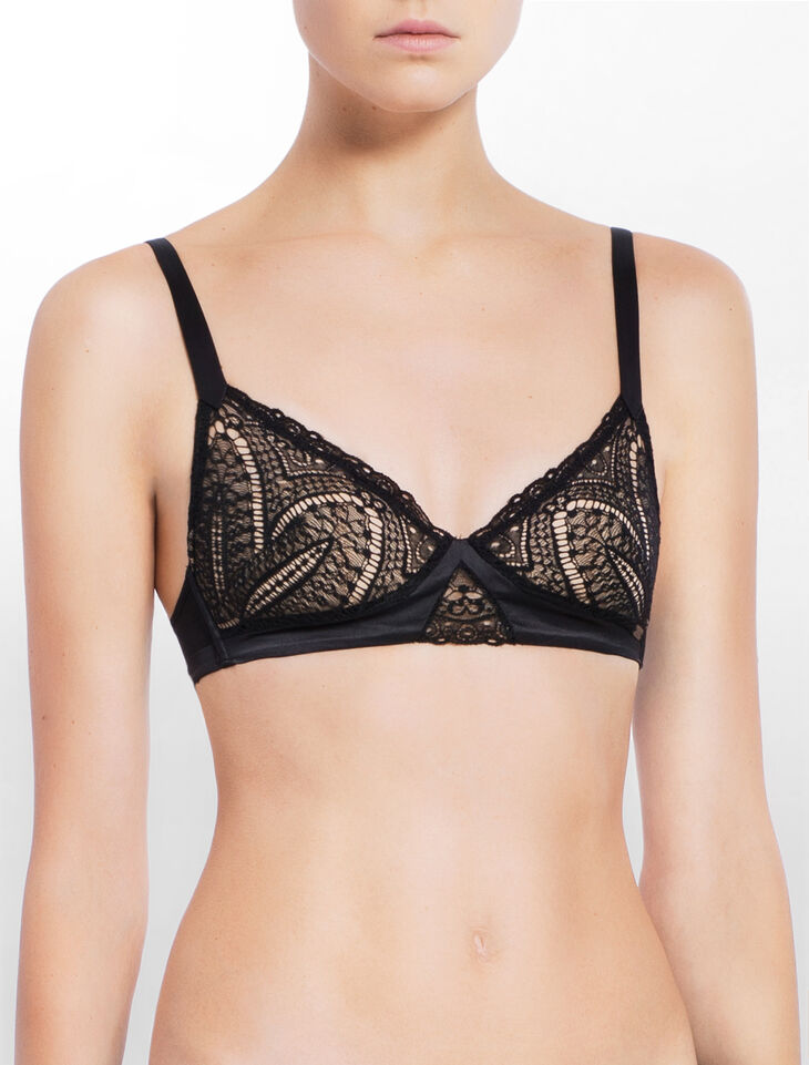 CALVIN KLEIN CK BLACK AUDACIOUS LIGHTLY LINED TRIANG BRA