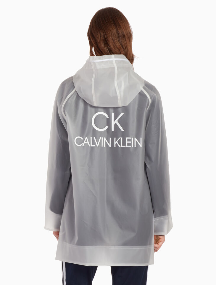 CALVIN KLEIN PLASTIC HOODED RAIN JACKET
