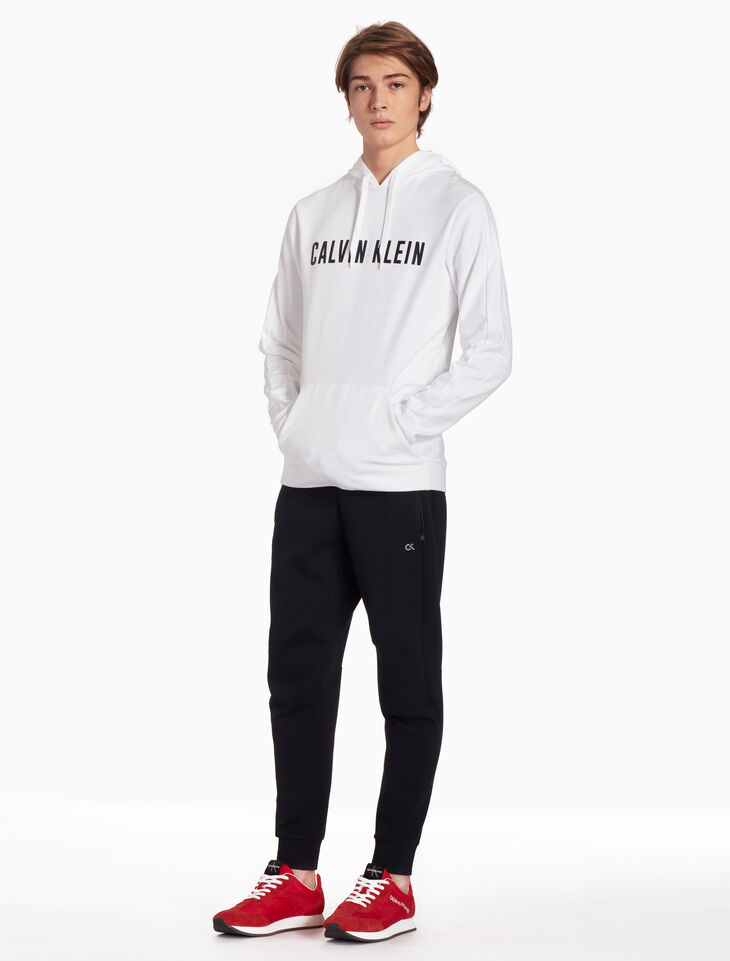 CALVIN KLEIN LOGO HOODED SWEATSHIRT