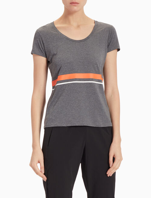 CALVIN KLEIN STRIPED TEE IN SLIM FIT