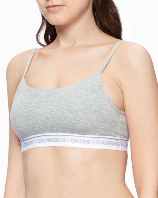 CALVIN KLEIN CK ONE COTTON LIGHTLY LINED BRALETTE