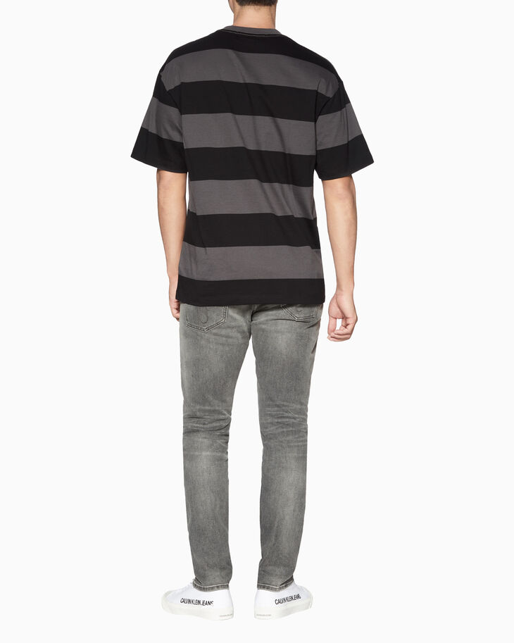 CALVIN KLEIN STRIPED TEE WITH CHEST POCKET