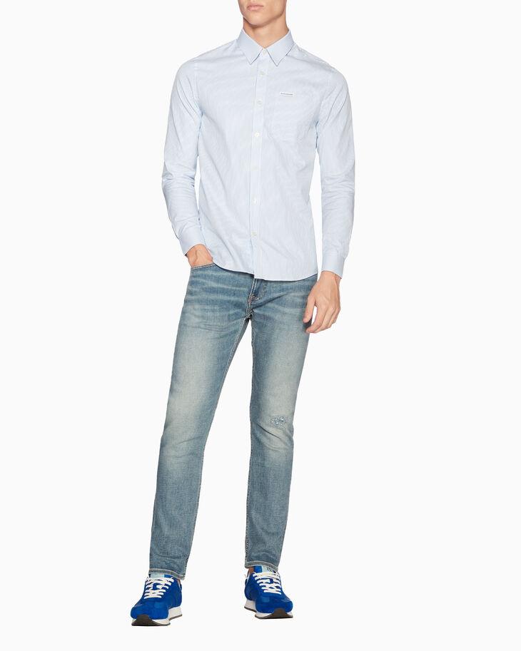 CALVIN KLEIN OXFORD PINSTRIPE 슬림 셔츠