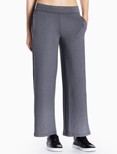 CALVIN KLEIN WIDE PANTS WITH LOGO WAISTBAND
